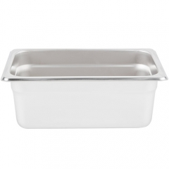 1/4 Size Stainless Steel Steam Table / Hotel Pan - 4
