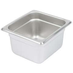 1/6 Size Stainless Steel Steam Table / Hotel Pan - 4