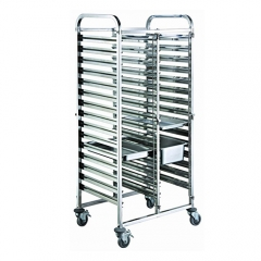30 Pan Stainless Steel GN Pan Trolley