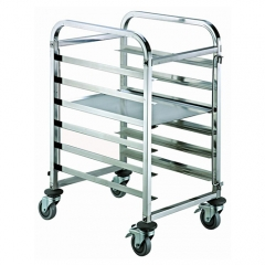 6 Pan End Load Half Height Bun / Sheet Pan Rack