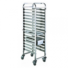 15 Pan Stainless Steel GN Pan Trolley