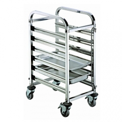 6 Pan Stainless Steel GN Pan Trolley